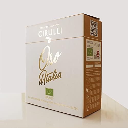 Cirulli Bag in Box Aceite de oliva biológico virgen extra italiano extraído en frío, BIO (5 Litros)