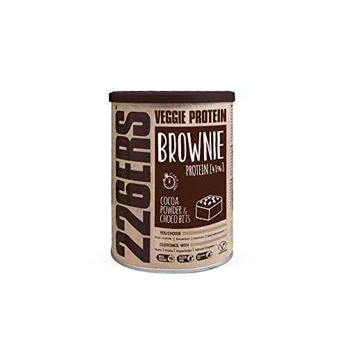 226ERS Evo Vegan Protein Brownie, Mezcla para Brownies de Proteína Vegana con Harina de Teff, Cocoa & Choco Bits - 420 gr