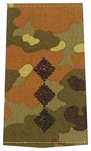 1 Paar Bundeswehr Rangabzeichen Flecktarn/Schwarz Rangschlaufe Rangschlaufen Abzeichen Schlaufe verschiedene Dienstgrade (Hauptmann)