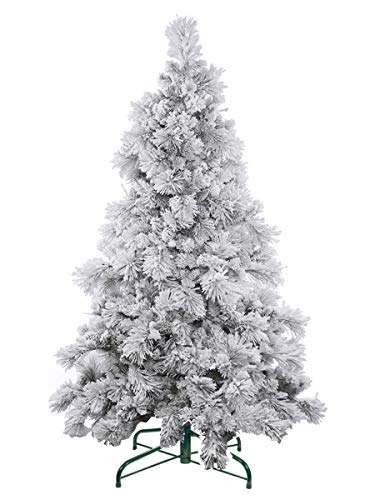 Evergreen Holiday Décor 6FT Flocked Artificial Christmas Tree - Unlit. 6' Flocked Snow Tree Metal Stand