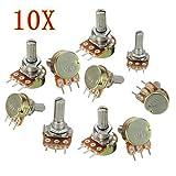 10PCS WH148 Pot B10K 10K Linear Potentiometer Shaft 15mm 3 Pin High Quality