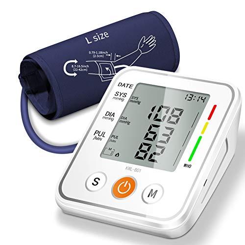 NWOUAIIY Blutdruckmessgerät Oberarm Vollautomatische Blutdruck Automatisches Oberarm-Blutdruckmessgerät Mit2 User Memories (2 * 99) und großem 3,5-Zoll-LED-Display