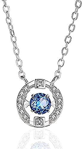 BEISUOSIBYW Co.,Ltd Collar Collar de Plata Pura Conjunto de Joyas de Plata Cadena de clavícula de Diamantes