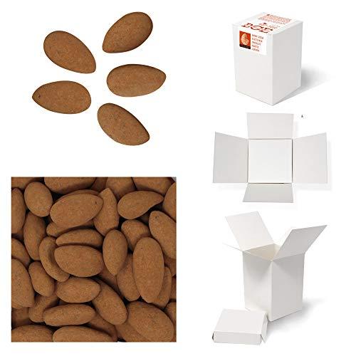 Bulk Gourmet Emporium, mandorle tostate ricoperte di cioccolato al latte e cacao in polvere, leggere, senza plastica, vegetariane e halal, frutta secca ricoperta di cioccolato, 400 g