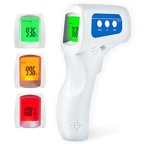 Infrared Forehead Thermometer, Adults Non-Contact IR Thermometer, Fever Alarm Digital Indicator for Baby/Child/Adult