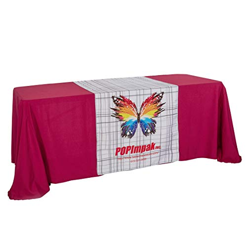 BANNER BUZZ MAKE IT VISIBLE Customize Table Runner Cloth Using Your Text and Logo with Free Design for Business, Trade Shows, Exhibition, Events, Advertising 36