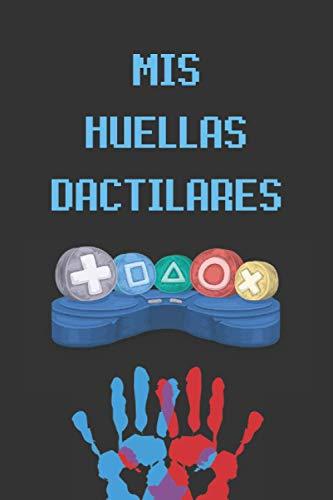 MIS HUELLAS DACTILARES: REGALO PARA JUGADORES. CUADERNO DE NOTAS, LIBRETA DE APUNTES, DIARIO PERSONAL O AGENDA.