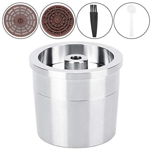 Espressos Capsule Maker, roestvrijstalen koffiefilter Gevuld koffiezetapparaat Herbruikbare capsulehuls Gerecycled filter Compatibel met Nespressos Original Brewers