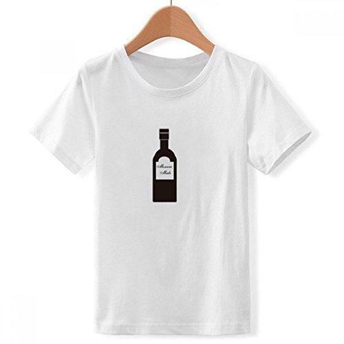 DIYthinker Jungen Schraubendreher Wodka Orangensaft Cocktail mit Rundhalsausschnitt Weißer T-Shirt XX-Groß Mehrfarbig