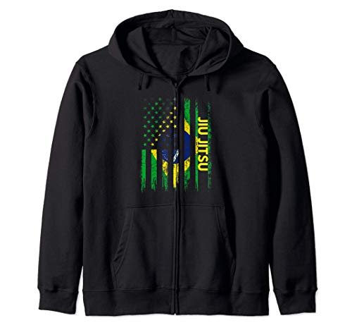 Jiu Jitsu T Shirt BJJ Gift Brazilian Martial Art Flag Sudadera con Capucha