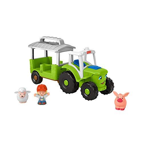 Fisher-Price Little People - Tractor Musical para enrollar, versión Francesa, Juguete para bebé y niño, de 12 Meses a 5 años, GTM08