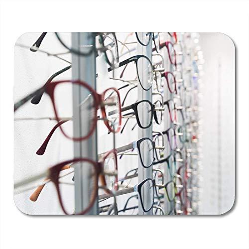 Semtomn Mouse Pad Optische Reihe von Luxusbrillen bei Opticians Store Eye Mousepad für Notebooks, Desktop-Computer Mausmatten, Büromaterial