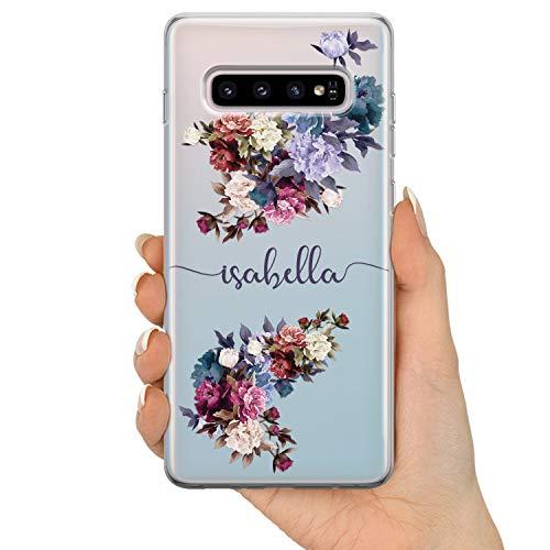 TULLUN Personalisierte Handyhülle für Samsung Galaxy A3 (2016) - Klare Hartplastik Benutzerdefinierte Blumen Design Buchstabe Initialen Name Text - Signatur Name V1
