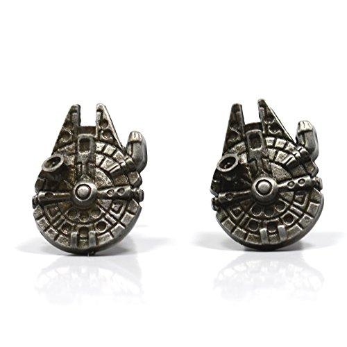 Star Wars Accessoires - Palladium Millenium Falcon Boutons de Manchettes en Boîte Cadeau - Bijouterie pour Homme
