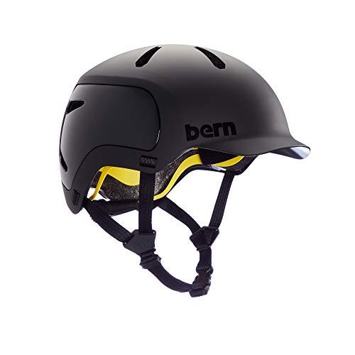 Bern WATTS 2.0 Fahrrad Helm, Matte Black, M