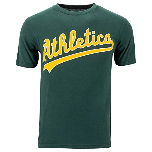 Majestic Adult Medium Licensed Replica Jersey with Oakland Athletics (A's) Green