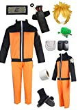 YOUYI Naruto Uzumaki Anime Halloween Cosplay Costume (S) Orange