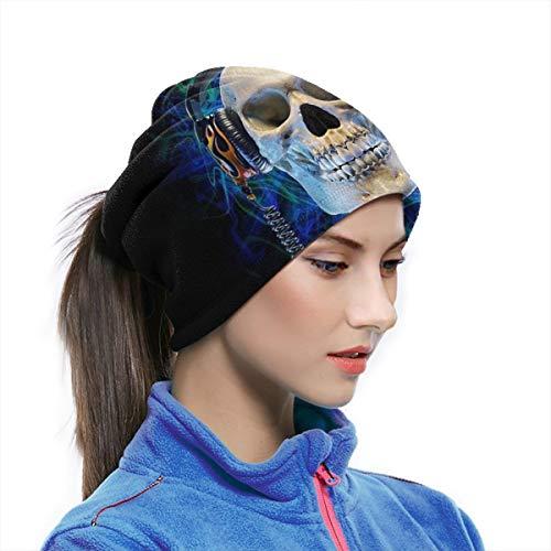 Rock Skull With Headphones Listening To Music Unisex...