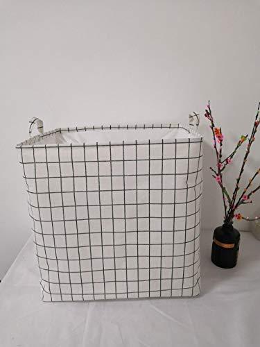 ZZXGG Storage Bucket, Cloth, Lattice, Portable, Dirty Clothes Basket
