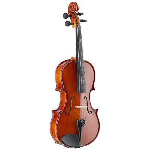 Stagg Effen esdoorn viool met standaard gevormde zachte hoes 1/2 Size