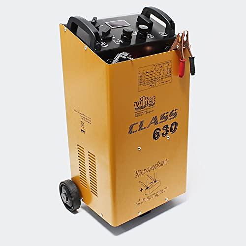 WilTec Chargeur de Batterie Moto Voiture Auto Rapide - Class Boost 630 - Batteries 12V et 24V