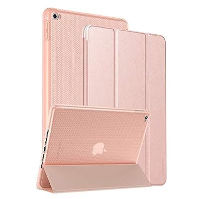 """SmartDevil Funda para iPad Air 2 con Smart Cover, Ligera y Delgada 9.7"""" Protectora Case para iPad Air 2 2014 con Soporte Función y Auto-Sueño/Estela, Carcasa para iPad Air 2 A1566 A1567 Oro Rosa"""