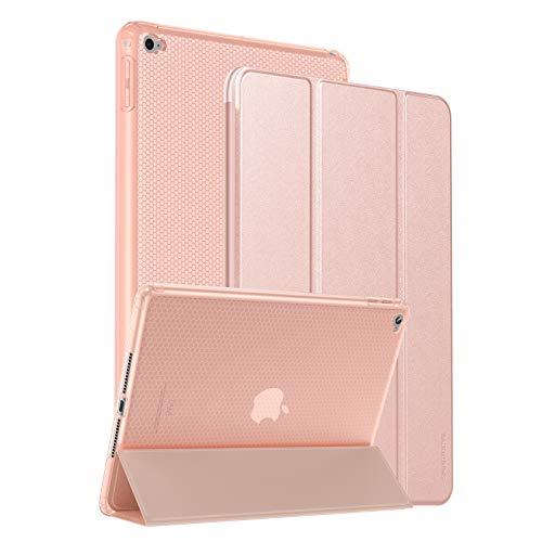 SmartDevil Hülle für iPad Air 2, Dünn 9,7 Zoll Schutzhülle für iPad Air 2 mit Ständer Funktion & Auto Schlaf/Wachen, Kratzfeste PU Leder Hülle für iPad Air 2 2014 (A1566 A1567) Roségold
