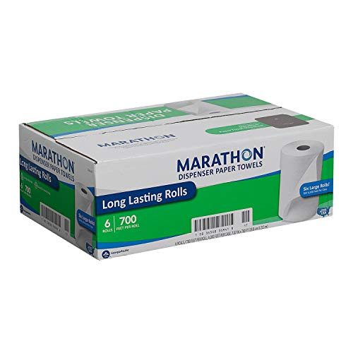 Marathon - Dispenser Roll Paper Towels, 350 Ft. Rolls - 12 Rolls by Marathon