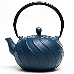 TOPTIER Japanese Cast Iron Teapot with Stainless Steel Infuser,