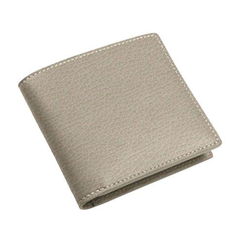 Lucrin - Porta-carte di credito standard - Vacchetta ruvida - Pelle - Grigio marrone chiaro