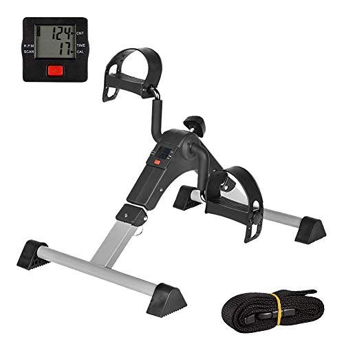 IPKIG Under Desk Bike Pedal Exerciser for Arm/Leg Fitness Folding Mini Exercise Bike Portable Home Desk Cycle