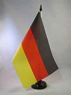 AZ FLAG Germany Table Flag 5`` x 8`` - German Desk Flag 21 x 14 cm - Black Plastic Stick and Base