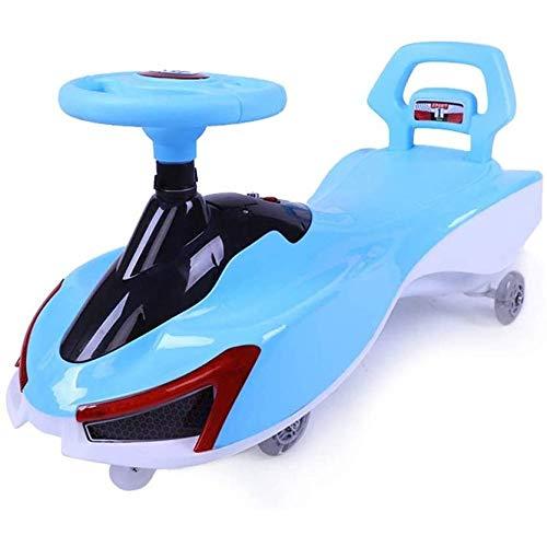 SONGTAO Swing Car Children'S Twist Car Infants Universal Wheel Swing Car Yo Car Male 1-3-6 Years Old Female Baby Twist Swing Cars,Blue