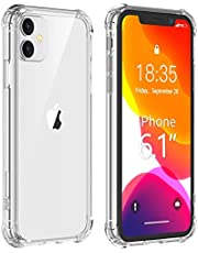 for iPhone 11 Case,Ultra-Thin HD Clear Slim Soft TPU Protective Case, Hard PC Back + Soft TPU Frame Shock-Absorption Anti-Scratch Cover Cases for iPhone 11 (6.1 inch)