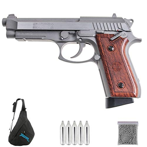 Swiss Arms P92 blowback Plata Pack Pistola de balines Arma de Aire comprimido CO2 Calibre 4,5mm <3,5J