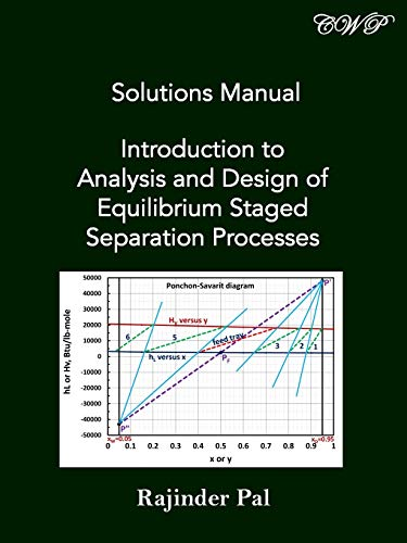 Solutions Manual: Introduction to Analysis and Design of Equilibrium Staged Separation Processes