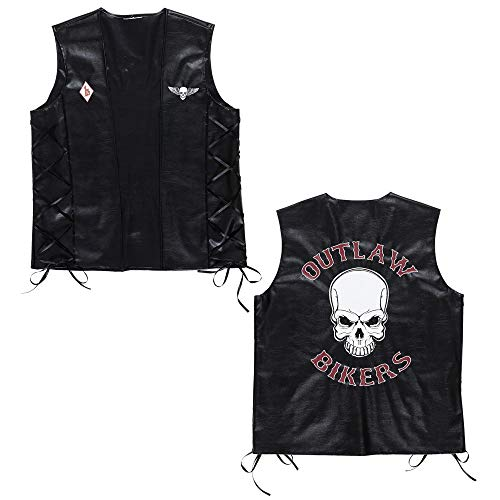 Widmann 49007 - Biker vest Outlaw in lederlook