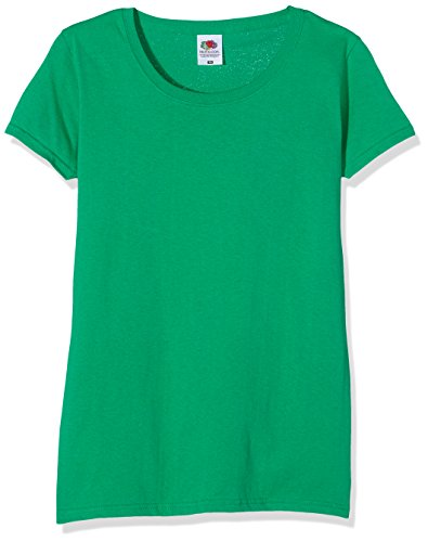 Fruit of the Loom Ss129m, Camiseta Para Mujer, Verde (Kelly), XL (Talla fabricante 16)
