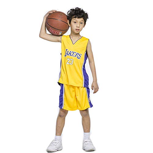 T-MIX NBA Maglia per Bambini - NBA Bulls Jordan No.23,Lakers James No.23,Warriors Curry No.30,Ragazzi Ragazze Basketball Maglie Top e Shorts
