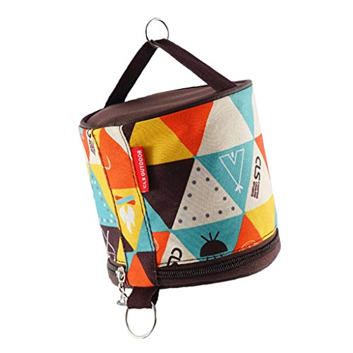 Perfeclan Waterproof Toilet Roll Case for Camping Outdoor Activity Toilet Paper Holder - B