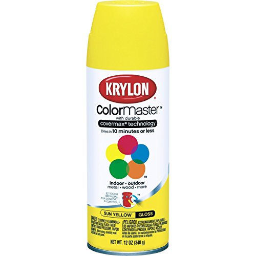 Krylon Farbe für Innen- und Außenbereich, Sonnengelb, 6 Stück
