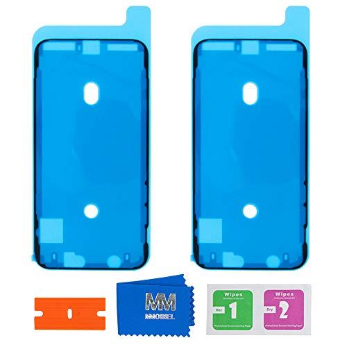 MMOBIEL 2 x Adesivo Impermeabile Pre Tagliato Compatibile con iPhone X - 5.8 Pollici per Frame Schermo LCD
