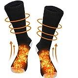 Calcetines calefactables eléctricos recargables con 3 archivos de temperatura ajustable, calcetines calefactables para hombre y mujer, para invierno al aire libre, esquí, senderismo, motocicleta