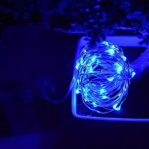 LED cable de cobre plateado con pilas a prueba de agua LED luces navideñas fiesta de vacaciones cadena de luz A2 4m40 leds usb