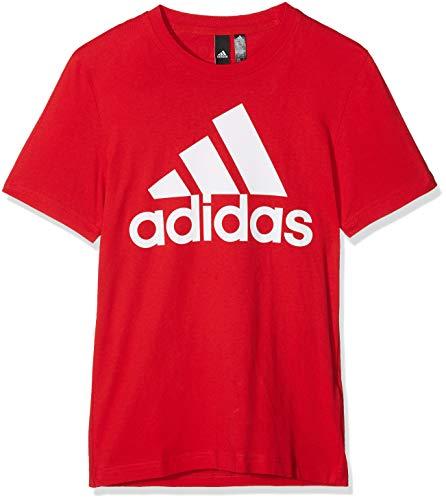 adidas Ess Linear Tee T-Shirt, Uomo, Rosso (Scarlet/White Scarlet/White), Small (Taglia Produttore:S)