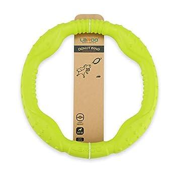 LaRoo Jouet pour Chien Frisbee Dog Disc, Disque de Lancer Durable pour Chiens forts pour Petits, Moyens et Grands Chiens, Sport, Exercice, Activité et Jeux de Plein air(30CM Vert)