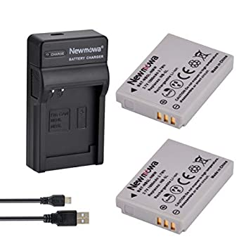 Newmowa NB-5L Replacement Battery  2-Pack  and Portable Micro USB Charger Kit for Canon NB-5L and Canon PowerShot S100 S110 SD790IS SD850IS SD870IS SD880IS SD890IS SD970IS SX200IS SX210IS