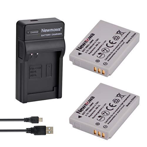 Newmowa NB-5L Batería (2-Pack) y Kit Cargador Micro USB portátil para Canon NB-5L and Canon PowerShot S100, S110, SD700 IS, SD790 IS, SD800 IS, SD850 IS, SD870 IS, SD880 IS