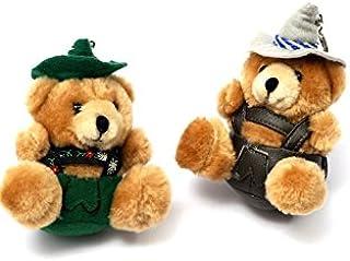 Bavariashop Bavariashop Jodelbär als Schlüsselanhänger, in grün oder braun, jodelnder Bär mit Lederhose und Hut.