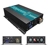 WZRELB 3000W 48V 120V Pure Sine Wave Power Inverter with 2 AC Outlets,Car Inverter (RBP-300048)